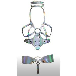 3 pieces Holographic Iridescent  Harness
